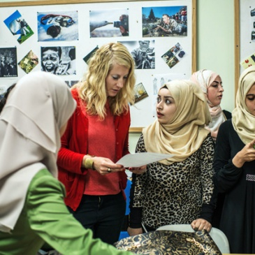 Urdal in charge for a photography workshop at An-najah university in Nablus